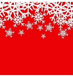 Snowflakes seamless border Christmas holiday vector