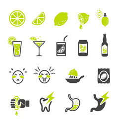 Sour icon vector