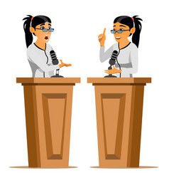 speaker woman business woman politician vector image