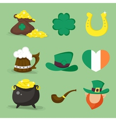 st patrick icons vector image