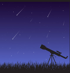starfall and telescope vector image vector image