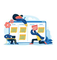 Task management concept vector