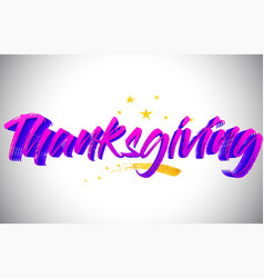 Thanksgiving purple violet word text vector