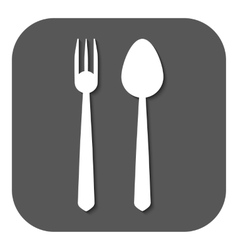 The spoon and fork icon vector image
