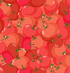 Tomato pattern Seamless background with red vector