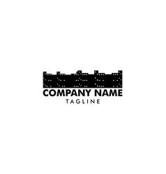 town logo template design vector image