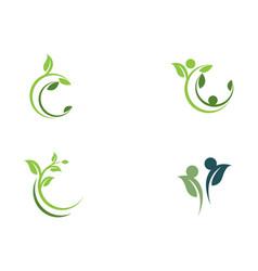 tree leaf icon design vector image