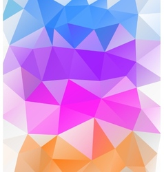 Triangle background Multicolor polygons vector