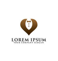 tuxedo logo design concept template vector image