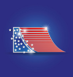 United states of america 4th of july vector