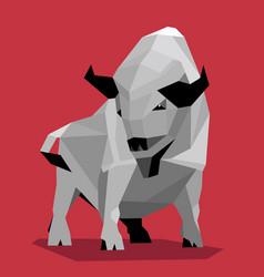 white metal bull vector image
