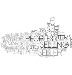 Why e bay is a seller s bliss text word cloud vector