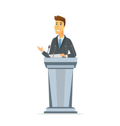 young politician - cartoon people character vector image
