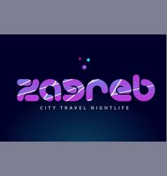 Zagreb european capital word text typography vector