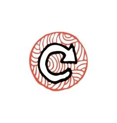 Zentangle icon arrow reload vector