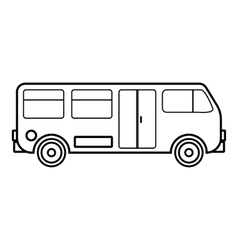 Bus icon outline style vector image vector image