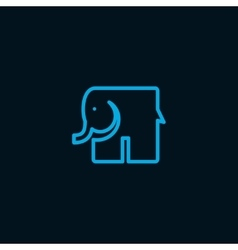 Elephant symbol vector image