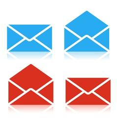 Envelope set Icon vector image vector image