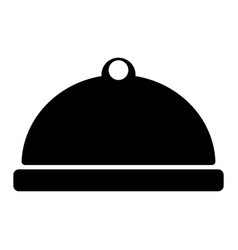 food dish icon vector image