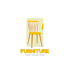 furniture logo design template home vector image