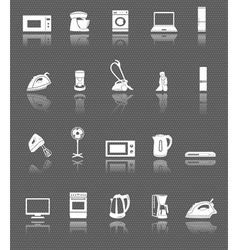 Home appliances and electronics web icons set vector image vector image