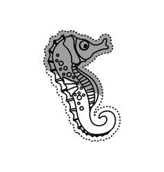 Sea horse animal vector image vector image