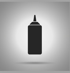 Ketchup bottle icon simple vector
