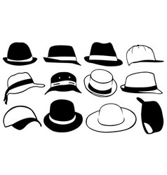 set of different hats vector image
