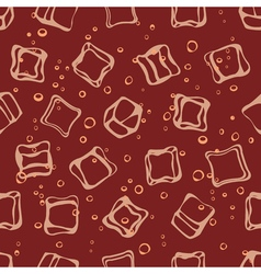Soda pop and ice cubes seamless pattern vector