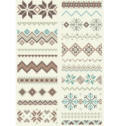 Collection of pixel retro brush templates vector image vector image