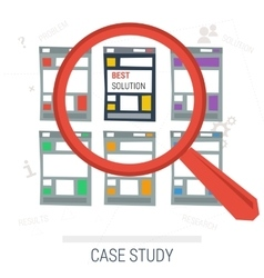 Concept case study best solution vector image vector image