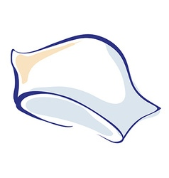 Nurse Hand Drawn Cap or Hat Icon vector image