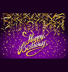 purple party background happy birthday vector image vector image