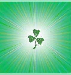 Shamrock green leaf vector