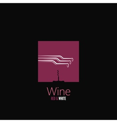 wine bottle design background vector image vector image