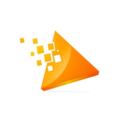 triangle 3D technology logo vector image vector image