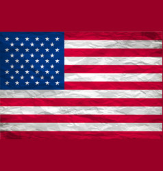 usa flag painted on white paper with backgrond vector image
