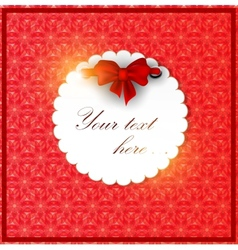 White invitation on red background vector image