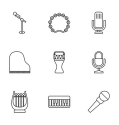 9 concert icons vector image