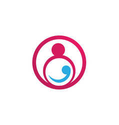 Adoption baby and community care logo template vector