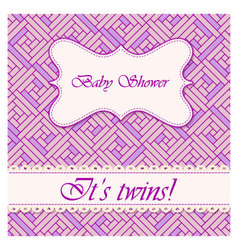 Baby-shower-abstract-background-twins vector