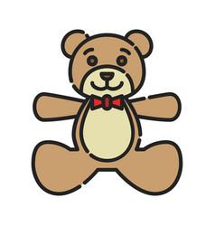 bateddy bear icon design clip art color icon vector image