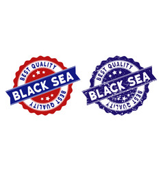 black sea best quality stamp with distress surface vector image