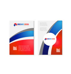 Blue and red flyer brochure poster pamphlet cover vector