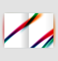 blurred wave line business annual report abstract vector image