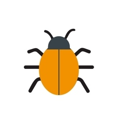 Bug virus alert isolated icon vector