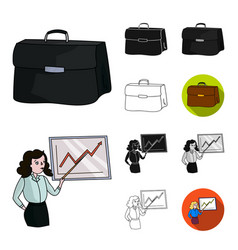 Business conference and negotiations cartoonblack vector