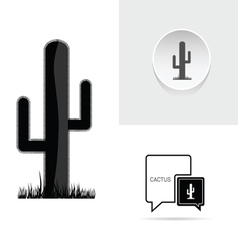 cactus speech bubble vector image