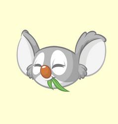 cartoon koala head icon vector image vector image