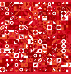 Chaotic abstract colorful geometric pattern vector